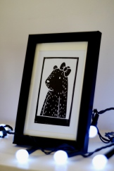 Framed Girl Bear