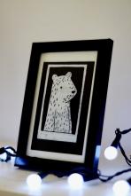 Framed Boy Bear